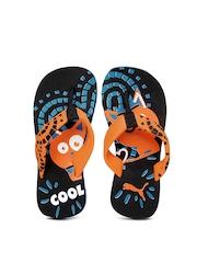 Puma Kids Black & Orange Cool Cat Jr Flip Flops
