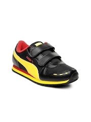 Puma Kids Black Cabana Velcro Jr Casual Shoes