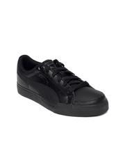 Puma Kids Black Court Point Jr Casual Shoes