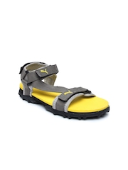 Puma Kids Grey Photon 3 Jr Sports Sandals