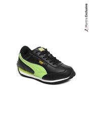 Puma Kids Black Speeder Jr Ind. Casual Shoes