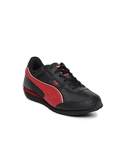 Puma Kids Black Speeder Jr Casual Shoes