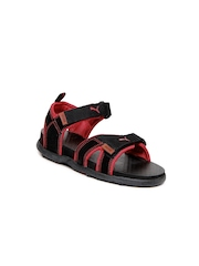 Puma Kids Black & Red Techno Jr Ind. Sports Sandals