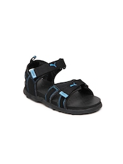 Puma Kids Black Techno Jr Sandals