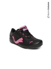 Puma Kids Black Unisex Soleil Bling Jr Casual Shoes
