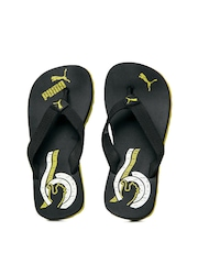 Puma Kids Black Wave Jr DP Flip Flops