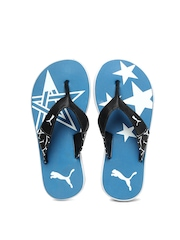 Puma Kids Blue & Black Star Flip Jr Flip Flops