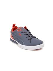 Puma Kids Grey Future Suede Lite Perf Jr Sneakers