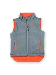 Puma Kids Orange & Grey Reversible Padded Gilet Jacket