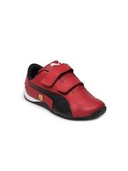 Puma Kids Red & Black Drift Cat 5 Sports Shoes
