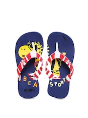 Puma Kids Red & White Zebra Jr Ind Flip Flops