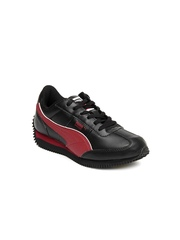Puma Kids Unisex Black Speeder Jr Casual Shoes