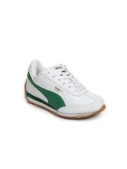 Puma Kids Unisex White Speeder Jr Casual Shoes