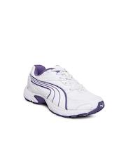 Puma Kids White Axis XT II Jr Ind Sports Shoes