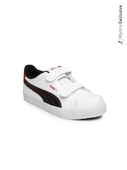 Puma Kids White Court Point V Casual Shoes