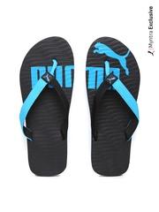 Puma Men Black & Blue Flip-Flops