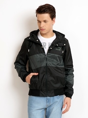 Puma Men Black & Grey Rain Jacket