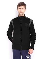 Men Black Ferrari Sweat Jacket Puma