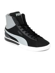 Puma Men Black Future Suede Mid Lite Perf Casual Shoes