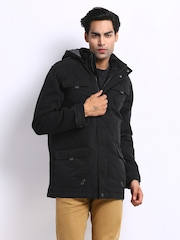 Puma Men Black Hooded Jacket