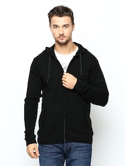 Puma Men Black Hooded Sweater