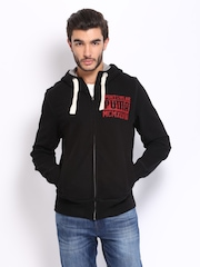 Puma Men Black Hooded Sweatshirt