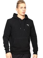 Puma Men Black Ess Hooded Sweatshirt