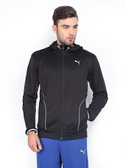 Men Black Hooded Jacket Puma