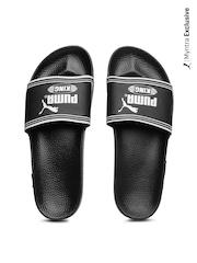 Puma Men Black King Top Slide Flip Flops