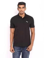 Puma Men Black Polo T-shirt