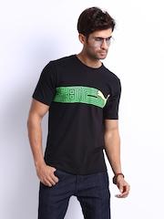 Puma Men Black Printed Pure Graphic Cat T-shirt
