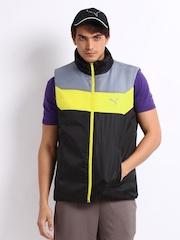 Puma Men Black Reversible Vest Jacket