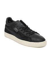 Puma Men Black Stepper MMQ Leather Casual Shoes