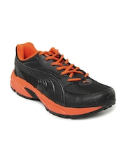 Puma Men Black & Orange Atom Fashion Ind. Casual Shoes