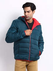 Puma Men Blue & Red Reversible Padded Jacket