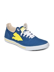 Puma Men Blue & Yellow Limnos Cat Casual Shoes