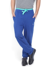 Puma Men Blue Casual Slick Track Pants
