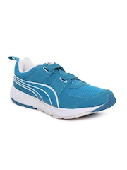 Puma Men Blue & White Descendant Alt DP Running Shoes