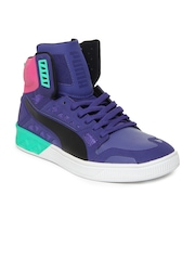 Puma Men Blue Future Basket Hi Sports Shoes