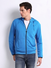 Puma Men Blue Hooded Sweatshirt