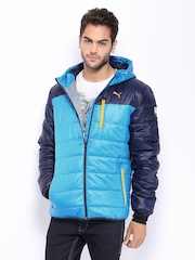Puma Men Blue Norway Hooded Jacket
