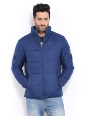 Puma Men Blue Padded Jacket