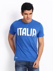 Puma Men Blue Printed T-shirt