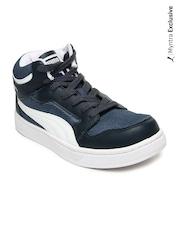 Puma Men Blue Rebound Mid Lite DP Casual Shoes