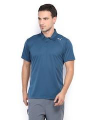 Puma Men Blue Polo T-shirt