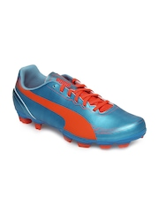 Puma Men Blue evoSPEED 5.2 FG Sports Shoes
