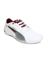 Puma Men White Touring Cat Grid Casual Shoes