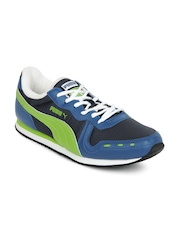 Puma Men Cabana II Ind. Blue & Green Casual Shoes