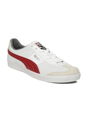 Puma Men White Roma LP Sneakers