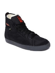 Puma Men Black Manilla Hi Fur GTX Casual Shoes